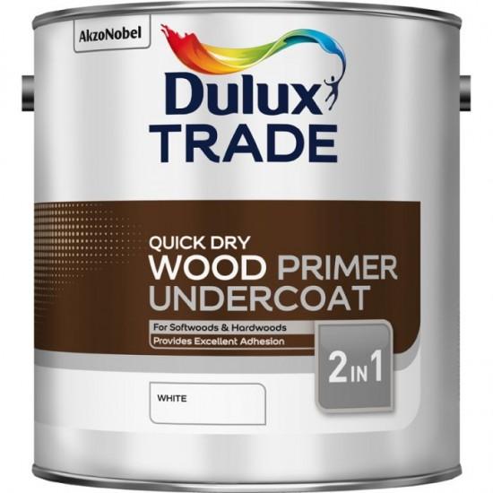 Dulux Trade 2.5L Quick Dry Wood Primer - Undercoat White Finish