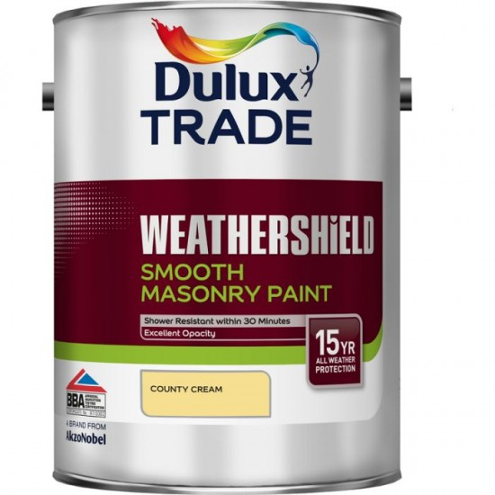 Dulux Trade Weathershield Smooth Masonry County Cream - 5L