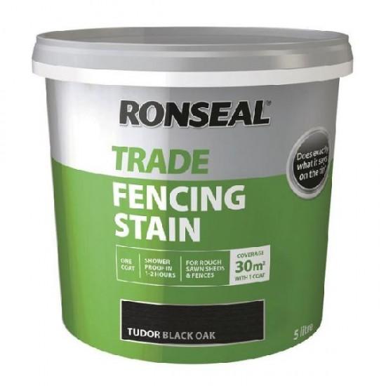 Ronseal Trade Fencing Stain Tudor Black Oak 5l