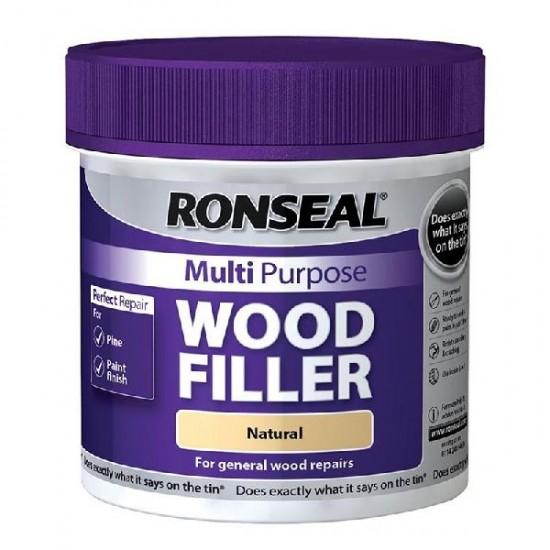 Ronseal Multi Purpose Wood Filler Natural 465g Tub