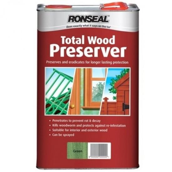 Ronseal Trade Total Wood Preserver Dark Brown 5L