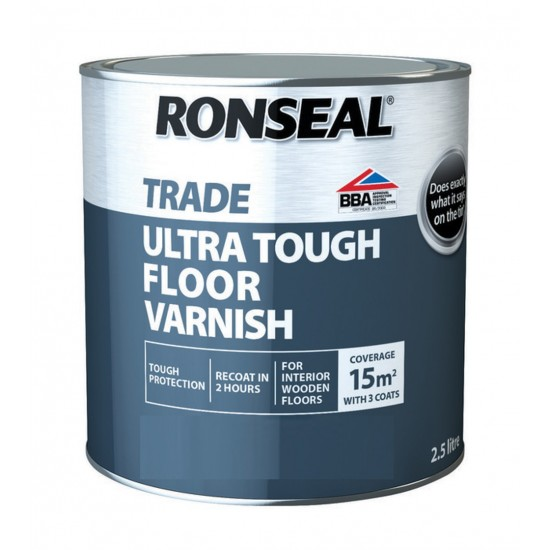 Ronseal Trade Ultra Tough Floor Varnish Clear Gloss 2.5l