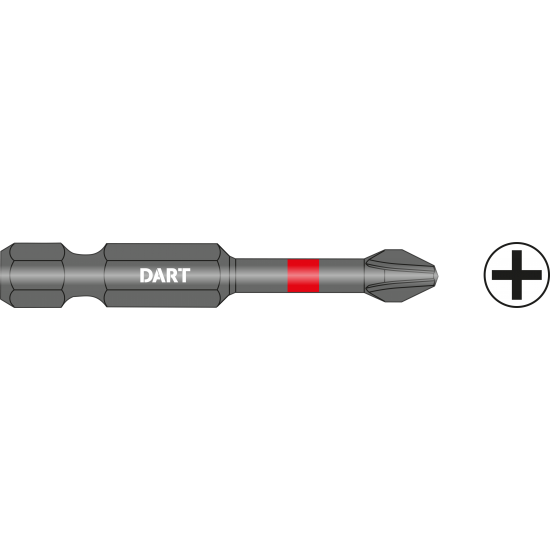 DART PH1 50mm Impact Driver Bit - Pack 10
