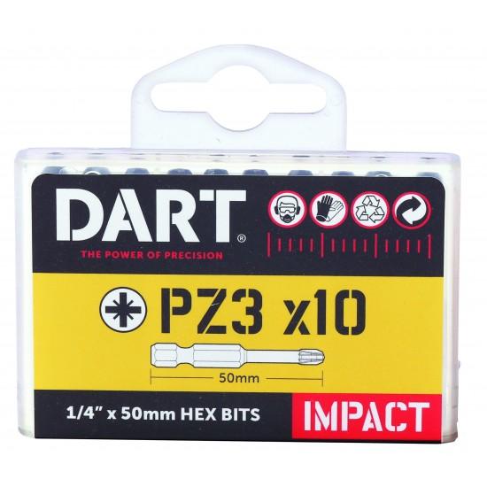 DART PZ3 50mm Impact Driver Bit - Pack 10