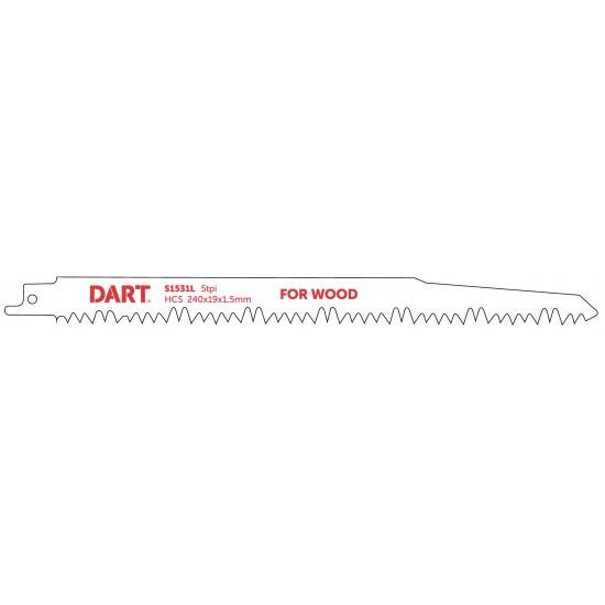 DART S1531L Wood Cutting Reciprocating Blade Pk 5
