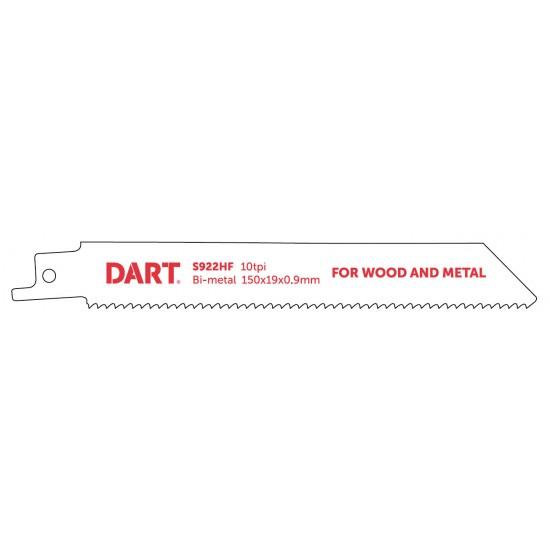 DART S922HF Metal Cutting Reciprocating Blade Pk 5
