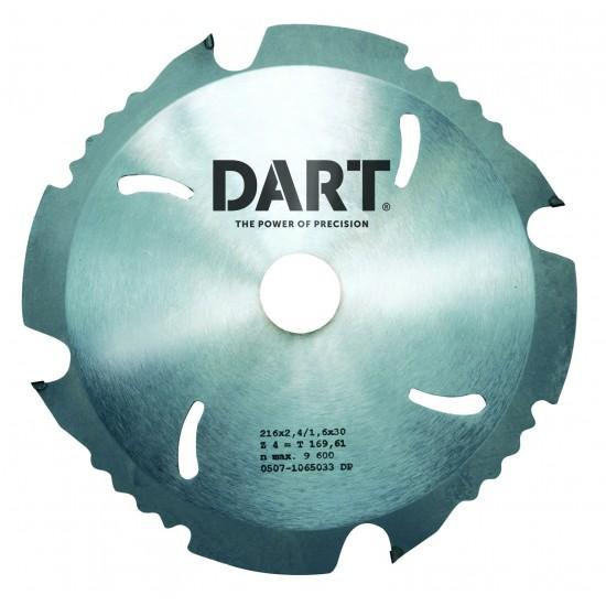 DART PCD Fibre Cement Saw Blade 190Dmm x 30B x 4Z