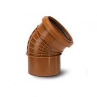 Polyrib 110mm 45Degree Bend Single Socket