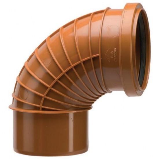 Polyrib 110mm 87.5Degree Bend Single Socket