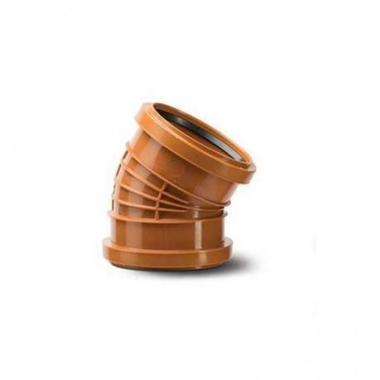 Polyrib 160mm 30Degree Bend Double Socket