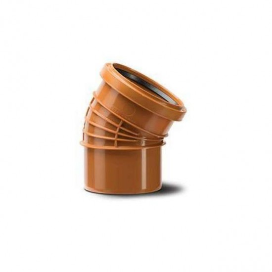 Polyrib 160mm 30Degree Bend Single Socket