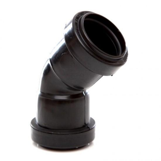 32MM 45DG P/F WASTE OBTUSE BEND BLACK