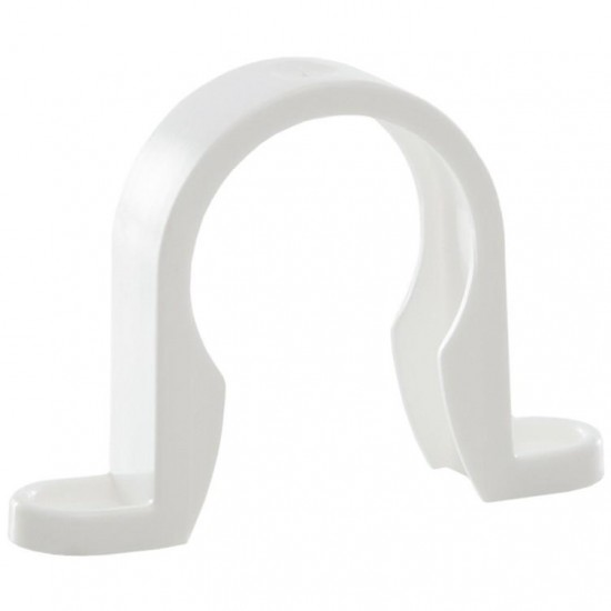 32mm Push Fit Pipe Clip White