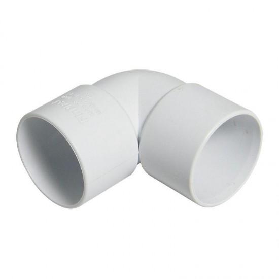 40mm Solvent Weld Knuckle Bend 90deg White