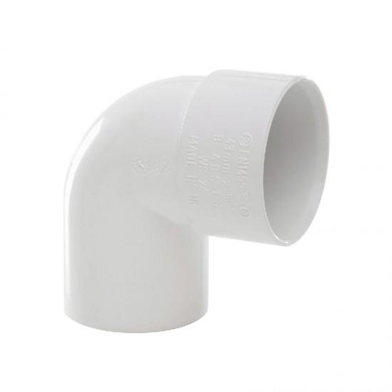 40mm Solvent Weld Swivel Bend 92deg White