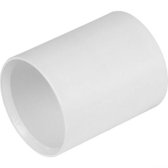 40mm Solvent Weld Straight Coupling White