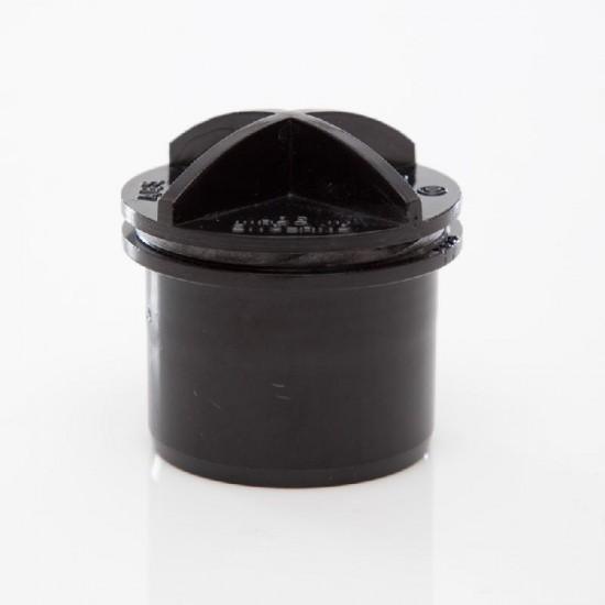 Screwed Access Plug 32mm Black