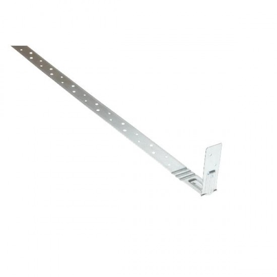 Galvanised Heavy Engineered Restraint Strap Bent At 100mm (Overall 1200mm)