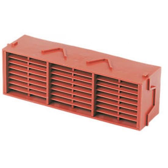 Timloc Plastic Air Brick Terracotta 225 x 75mm