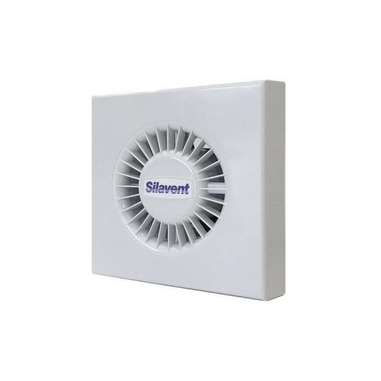 Silavent 100mm Standard With Light Concealed Shower Fanhigh Performance Chrome