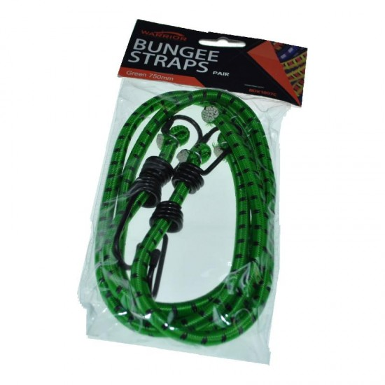 Prosolve Pair of 750mm Green Bungee Strap
