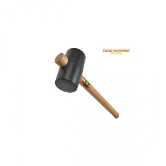 Thor Hammer Black Rubber Mallet 64mm 550g