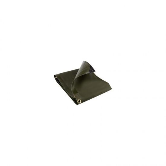 PVC Tarpaulin Silver/Green 3.7m x 2.8m