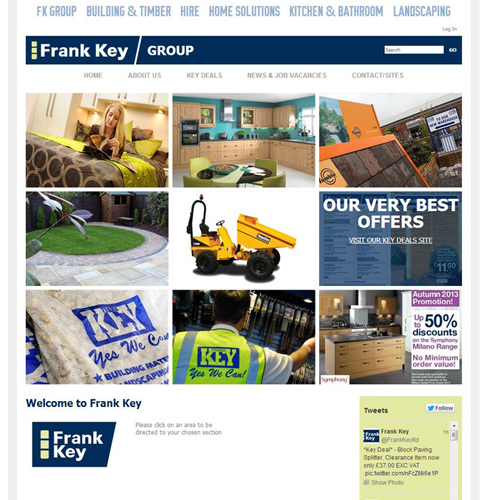 Image showcasing changes to Frank Key website