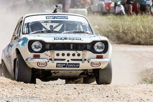 International Rally car sponsored by Frank Key