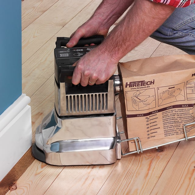 how to use a floor edging sander